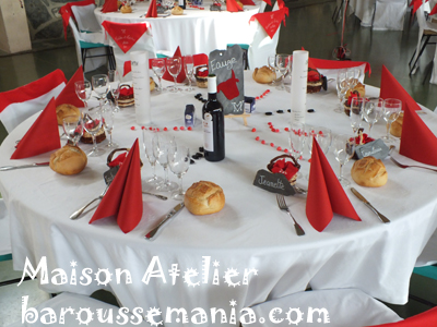 decoration table mariage feria